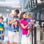 Tourist family at airport